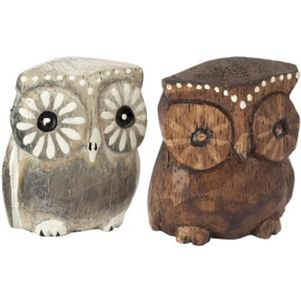 Wooden Owls (Small)