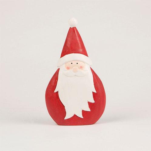Round Wooden Santa (Sass & Belle)