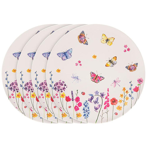 Butterfly Bamboo Plates (Set of 4)
