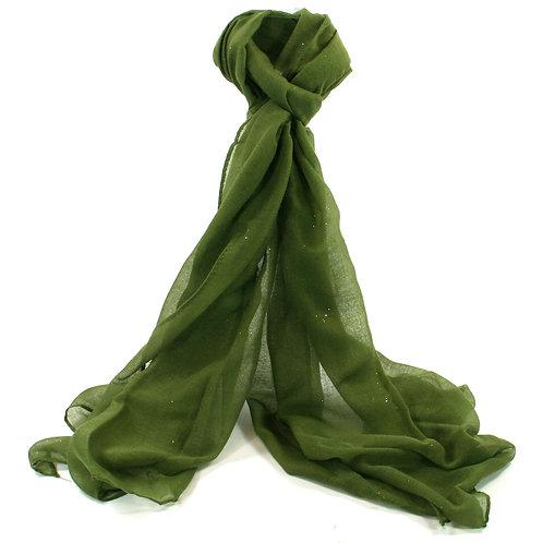 Green Glitter Scarf