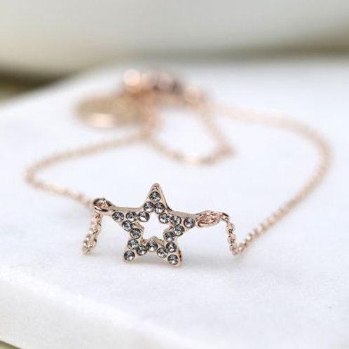 B21017 RG Star Fine Chain Bracelet