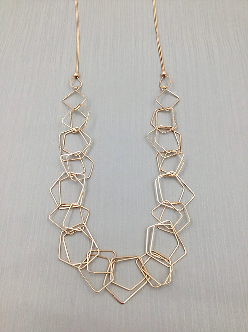 LN20013 Rose Gold Long Links Necklace
