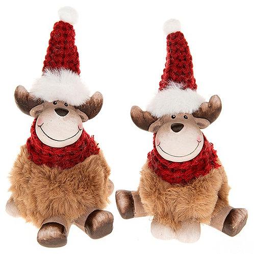 Festive Sitting Reindeer