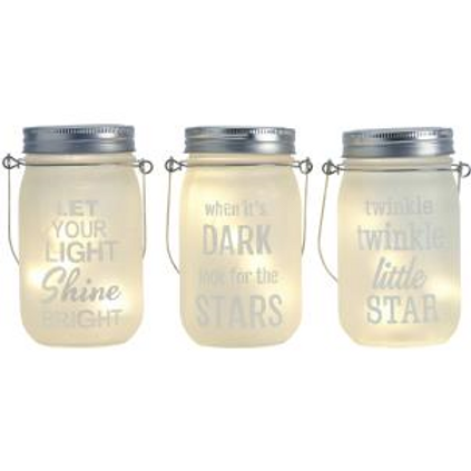 Frosted Message Jars