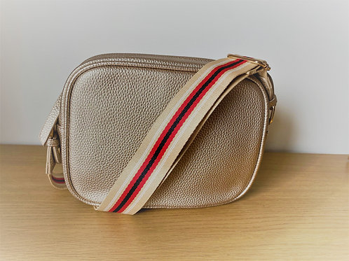 Single Zip Camera Bag - Gold