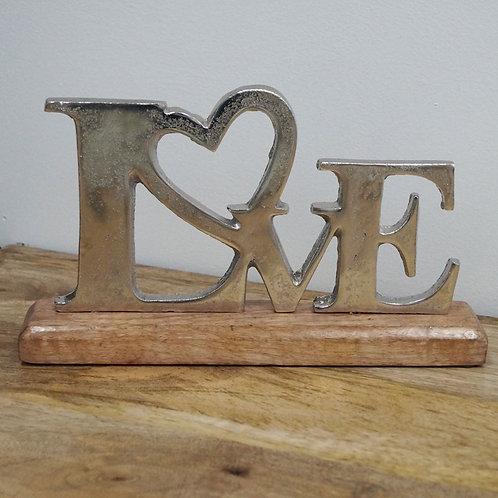 LOVE on Wood