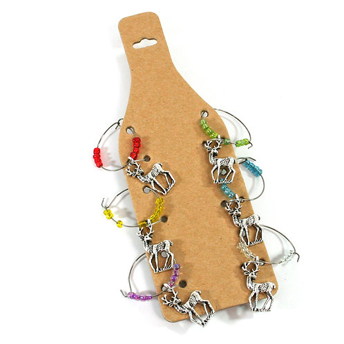 Stag Wine Charms