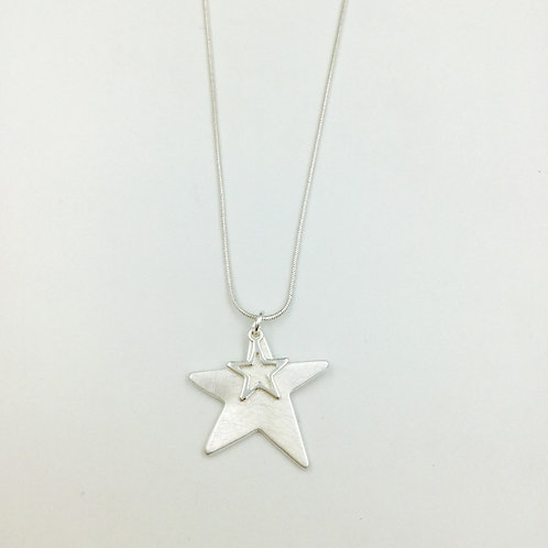 N20003 Double Star Necklace