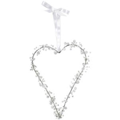 Beaded Heart (White)