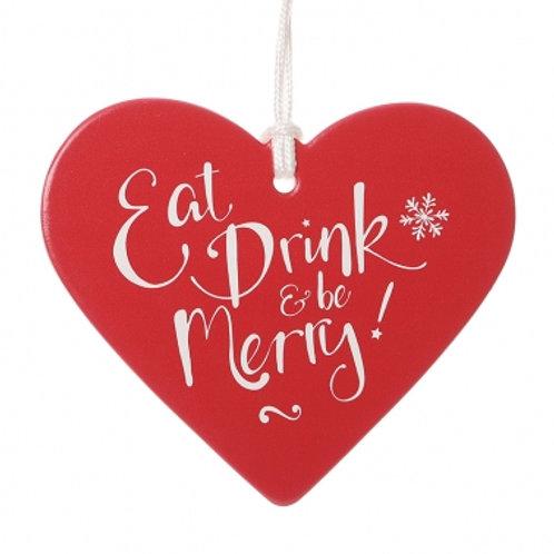 Be Merry Ceramic Heart