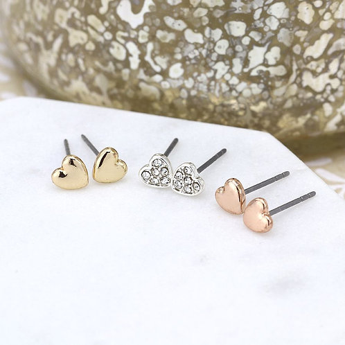 E20020 Trio of Hearts Earrings