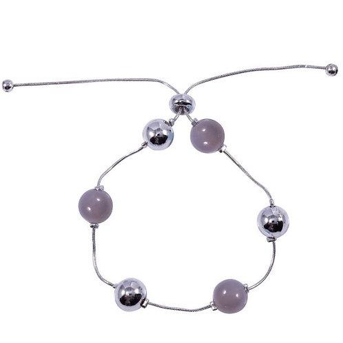 B19037 Grey Drawstring Bracelet