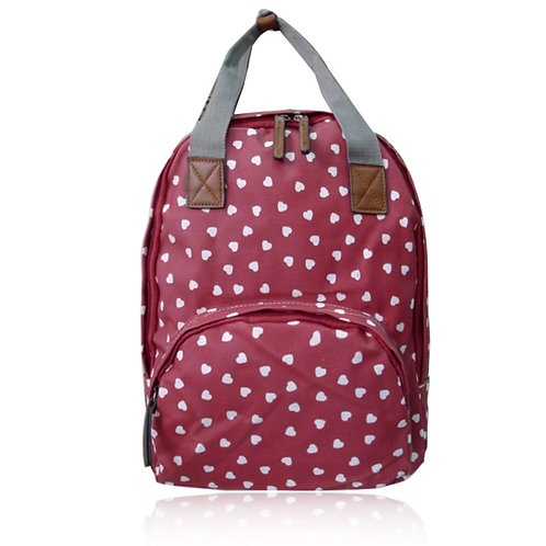 Mini Hearts Backpack - Red