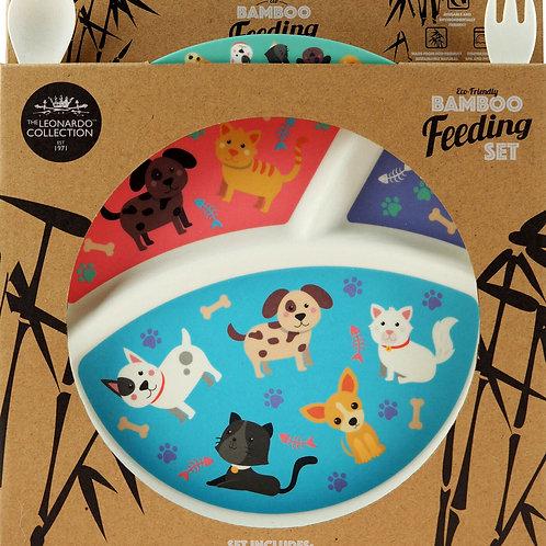 Bamboo Cat & Dog Eating Set
