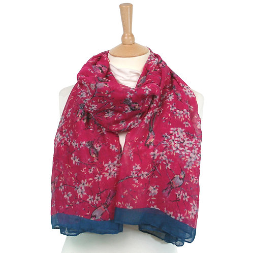 Raspberry Blossom Scarf