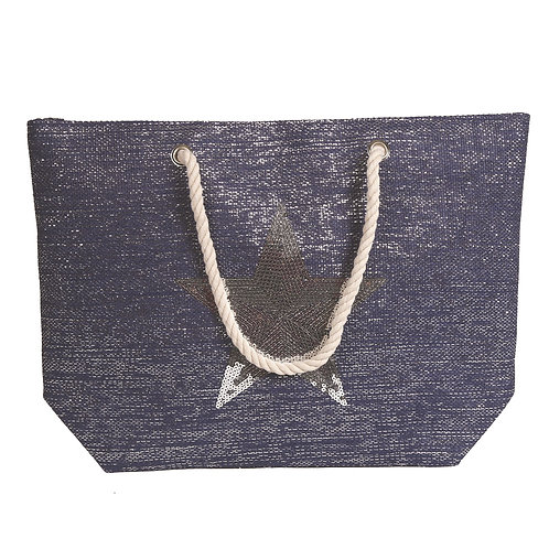 Blue Star Beach Bag