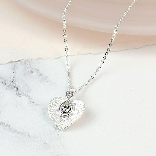 DN19010 Twisted Heart Necklace