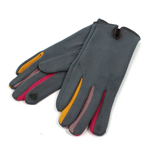 Grey Colourful Betweeners Gloves