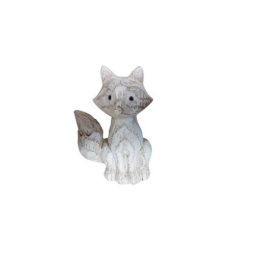 White Resin Fox