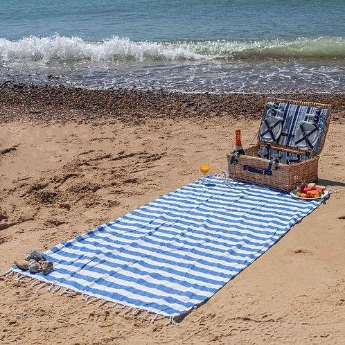 Blue Stripe Beach Towel