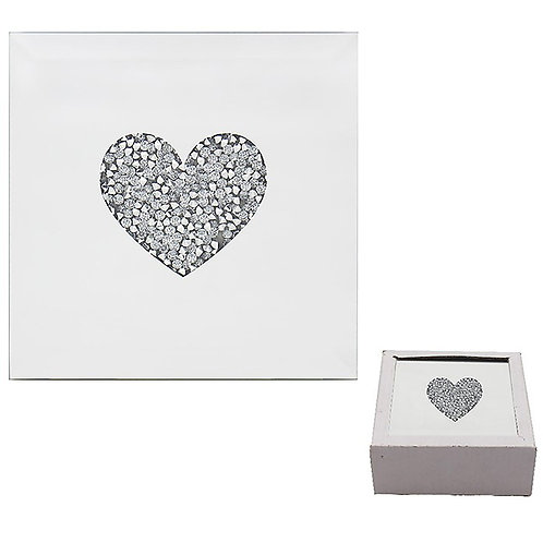 Silver Heart Coasters (Set of 4)