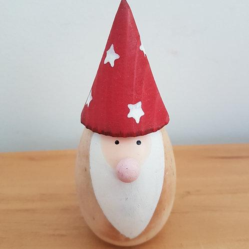 Wooden Star Santa