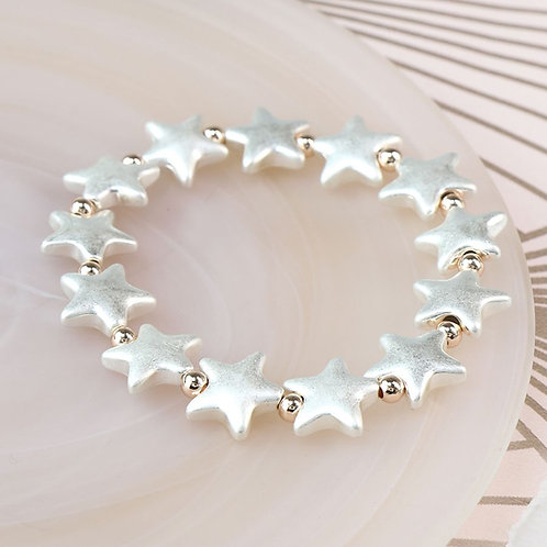 B20014 Silver Star Bracelet
