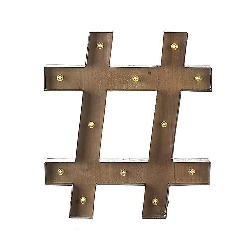 LED Hashtag