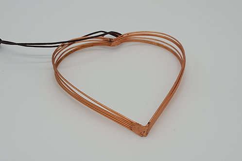 9 Strand Copper Wire Heart