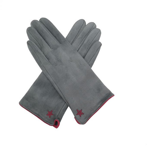 Star Gloves - Grey
