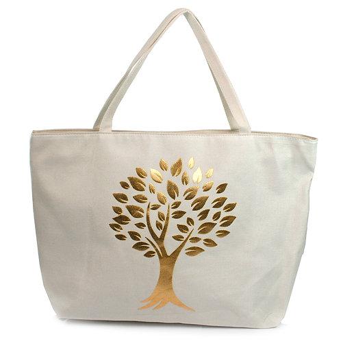 Gold Trees Beach Bag