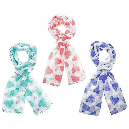 Two Tone Hearts Scarves