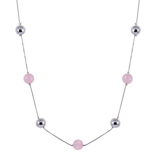 N19035 Pink and Silver Necklace