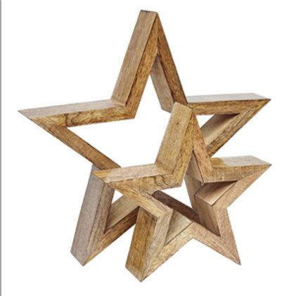 Nesting Wooden Stars (Set of 2)