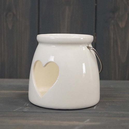 Heart Porcelain Tealight Holder