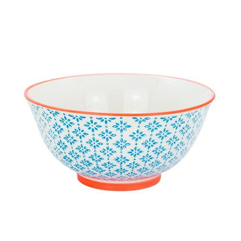 Patterned Cereal Bowl - Blue and Orange