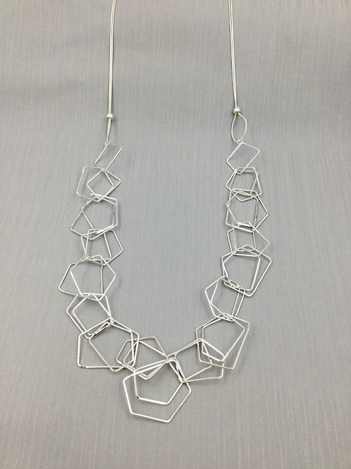 LN20014 Silver Long Links Necklace