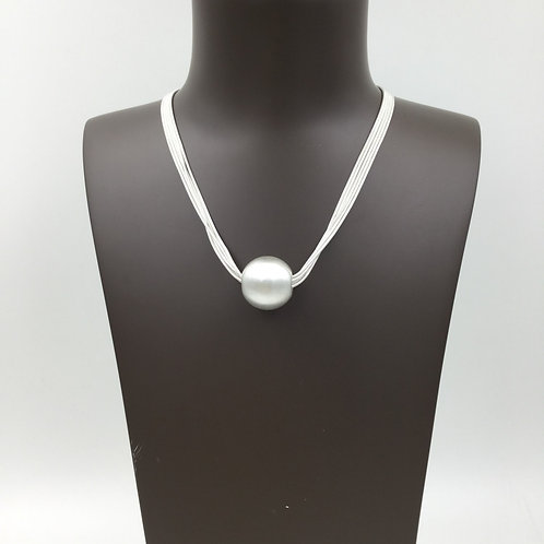 N20001 Silver Ball Necklace