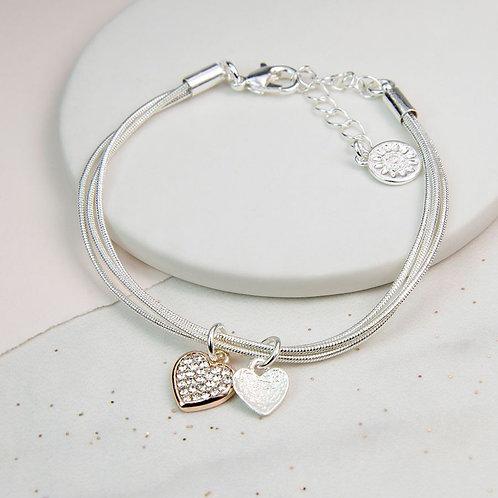 B19010 Czech Crystal Heart Bracelet