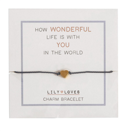 How Wonderful Life Is Charm Bracelet