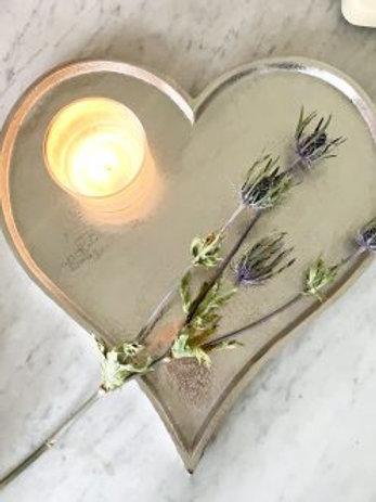 Silver Heart Plate