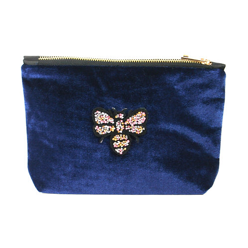 Bee Clutch Bag - Navy