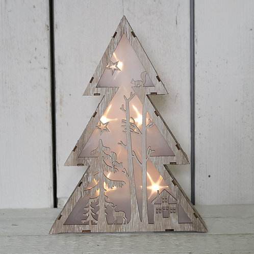 LED Wooden Tree