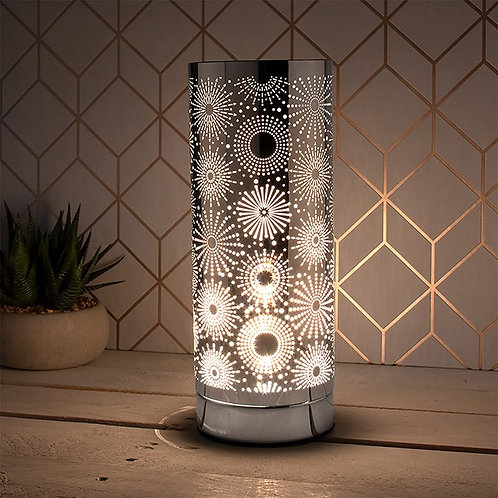 Aroma Silver Circles Touch Lamp