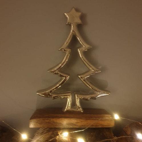 Aluminium Tree on Wood