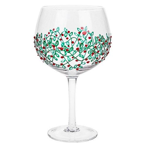 Holly Garland Gin Glass