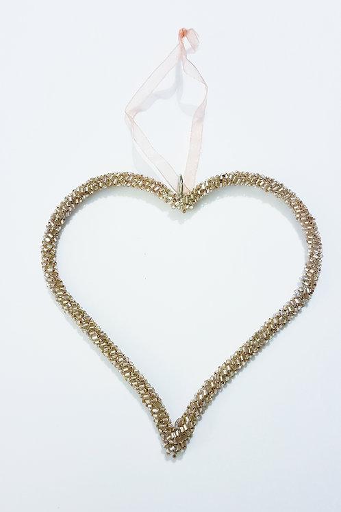Rose Gold Sparkle Heart
