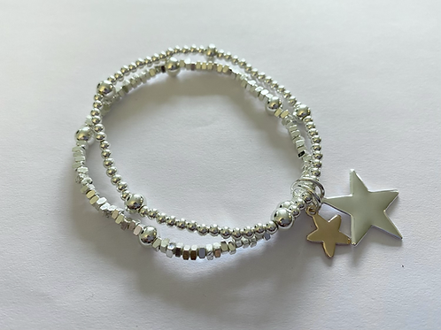 Double Star Stretch Bracelet