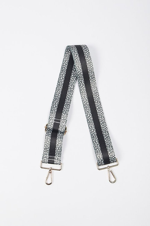 Camera Bag Strap - Khaki Black Stripe Dalmatian