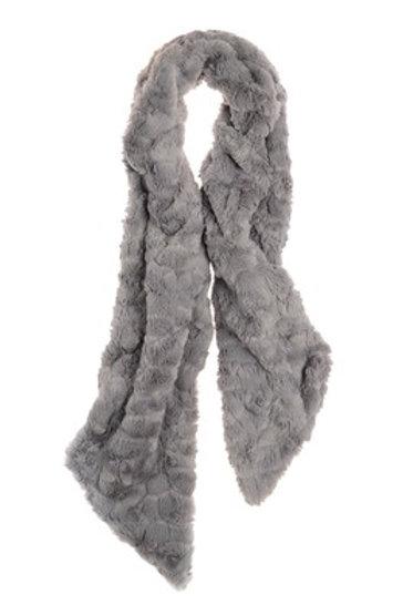 Grey Fluffy Scarf